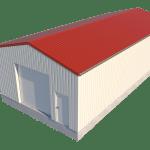 Loods dak plaatsen